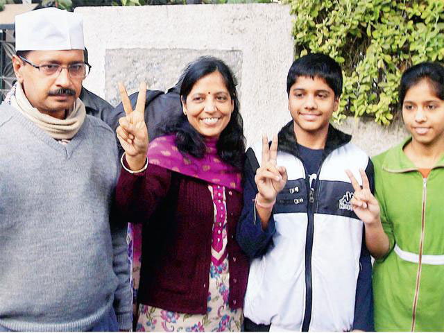 Arvind Kejriwal Wife and his family